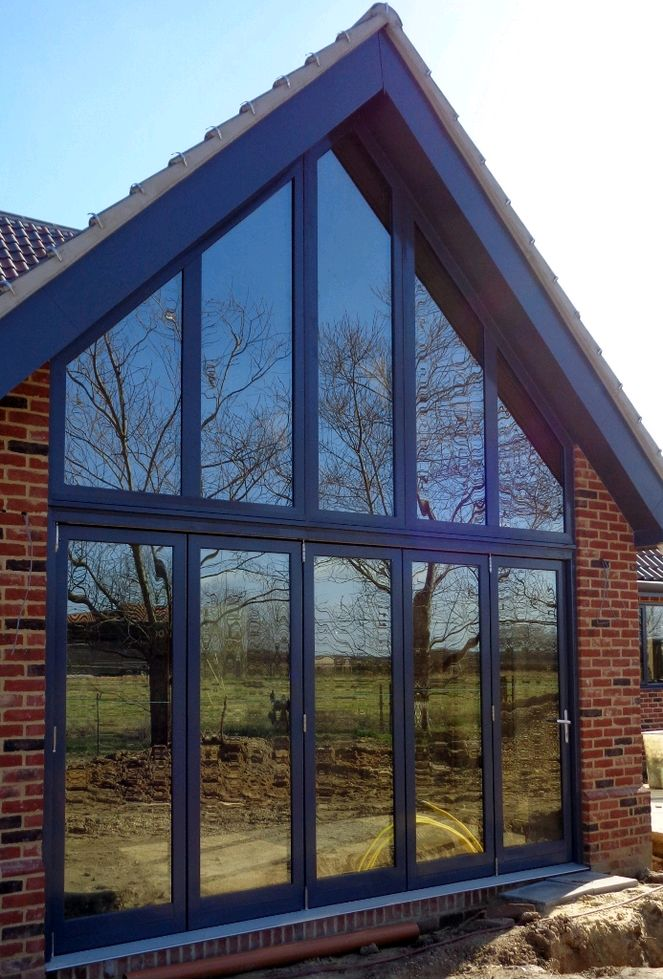 Centor - alu-clad oak folding door & Aluminium-Clad Doors Gallery