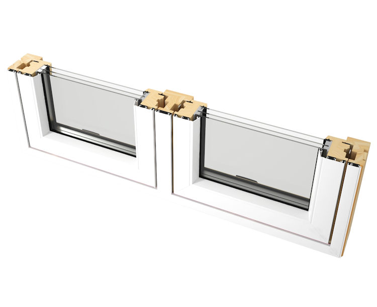 Aluminium clad outward opening timber windows for Best triple glazing