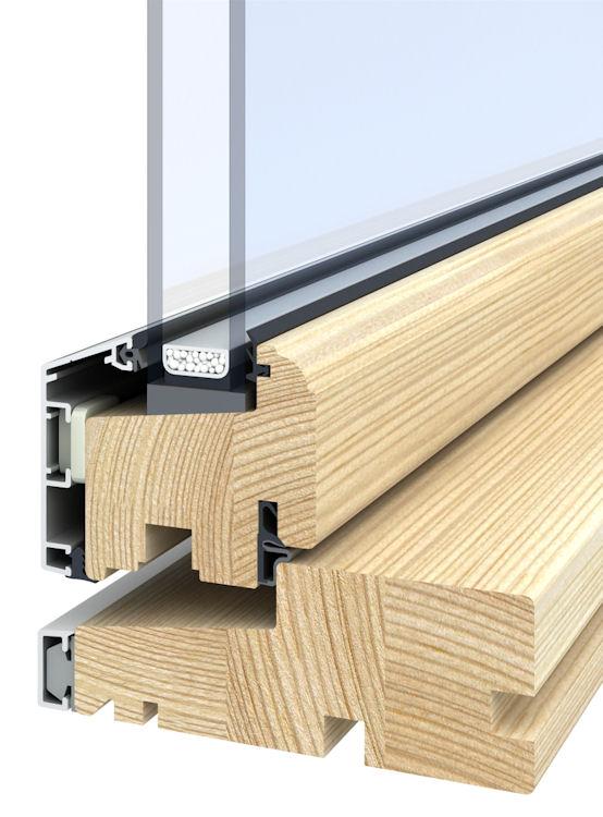 Aluminium Clad Outward Opening Timber Windows