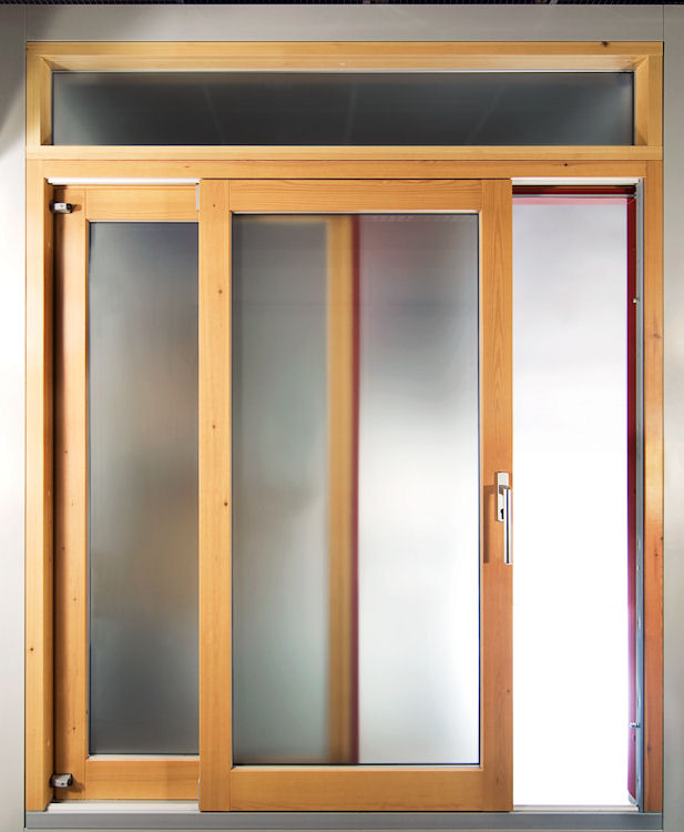 Wooden lift and slide doors and aluminium clad lift and for Porte lift and slide