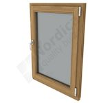Hardwood option: oak or meranti inward opening casement window